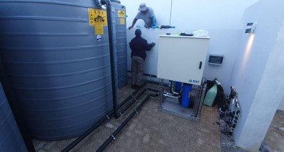 Rain water treatment and re-use at Clara-Anna Fontein